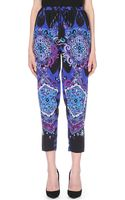 Emilio Pucci Printed Tapered Silk Trousers - Lyst