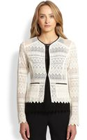 Nanette Lepore Journey Lace Cardigan Jacket - Lyst