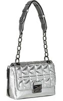 Karl Lagerfeld Kuilted Leather Shoulder Bag - Lyst