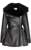 Acne Studios Muse Leather and Shearling Jacket - Lyst