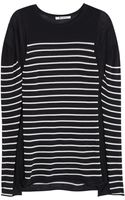T By Alexander Wang Striped Cotton-blend Top - Lyst