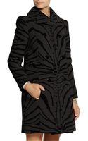Carven Zebra Print Wool Blend Coat - Lyst