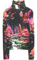 Balenciaga Printed Stretch Top - Lyst
