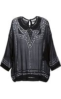 Etoile Isabel Marant Broderie Anglaise Sheer Blouse - Lyst