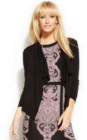 Inc International Concepts Three-quarter-sleeve Cropped Cardigan - Lyst