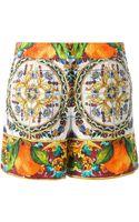 Dolce & Gabbana Majolica Print Shorts - Lyst