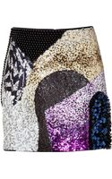 3.1 Phillip Lim Sequined Mini-skirt - Lyst