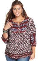 Lucky Brand Jeans Plus Size Printed Top - Lyst
