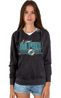 Junk Food Womens Miami Dolphins Holiday Logo Hoodie - Lyst