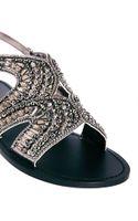 Asos Freckle Embellished Flat Sandals - Lyst