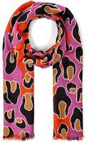 Diane Von Furstenberg Cashmere Animal Print Scarf - Lyst