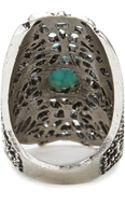 Forever 21 Cutout Faux Turquoise Ring - Lyst