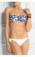 Emamó Embroidered Bandeau Bikini - Lyst