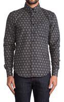 Naked & Famous Kimono Geometric Regular Shirt - Lyst