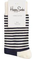 Happy Socks Half-stripe Socks - Lyst