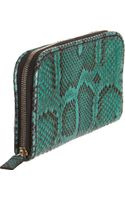 Zagliani Python Zip Around Wallet - Lyst