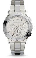 Michael Kors Wyatt Silvertone Stainless Steel Watch - Lyst