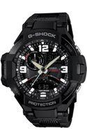 G-shock Mens Analog-digital Twin Sensor Aviator Black Resin Strap Watch 52x51mm -1a - Lyst
