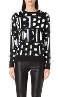 Paul Smith Black Label Numbers Wool and Alpaca-blend Jumper - Lyst