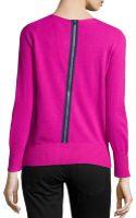 Diane Von Furstenberg Cashmereblend Backzip Sweater - Lyst