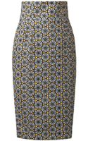 Stella Jean Agnese Tribal Print Pencil Skirt - Lyst