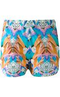 Marcelo Burlon County Of Milan Parrot Print Shorts - Lyst