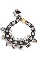 Lanvin Crystal Embellished Bracelet - Lyst