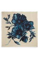 Tory Burch Geneva Floral Silk Wool Scarf - Lyst