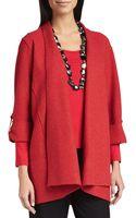 Eileen Fisher Lightweight Boiled Wool Coat - Lyst