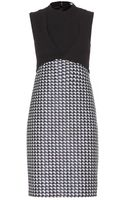 Carven Crepe and Tweed Dress - Lyst