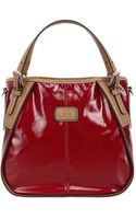 Tod's Red Coated Twill New G Small Convertible Tote - Lyst