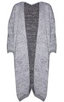 Pixie Market Off Duty Long Grey Cardigan - Lyst