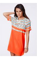 Missguided Layrisse Multi Panel Shift Dress - Lyst