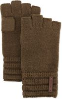 Cole Haan Wool Ribbed Fingerless Gloves - Lyst