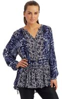 Free People Patterned Drop Waist Tunic - Lyst