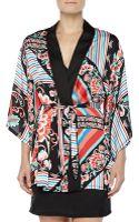 Josie Valentina Floral-print Satin Wrap Robe - Lyst