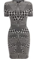 McQ by Alexander McQueen Hounds Tooth Jacquard Mini Dress - Lyst