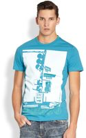 Versace Jeans City Print Tee - Lyst