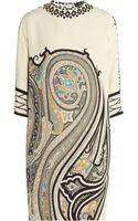 Etro Paisleyprint Silk Mini Dress - Lyst
