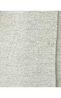 Jaeger Metallic Tweed Coat - Lyst