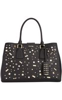 Calvin Klein Kate Saffiano Studded Tote - Lyst