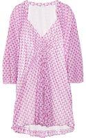Diane Von Furstenberg Fleurette Printed Silk Chiffon Dress - Lyst