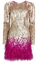 Matthew Williamson Liquid Sequin Mini Dress - Lyst