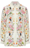 Matthew Williamson Silk Floral Print Shirt - Lyst
