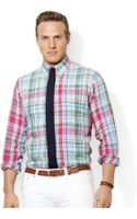 Polo Ralph Lauren Polo Big and Tall Linen Plaid Shirt - Lyst