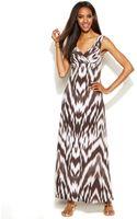 Inc International Concepts Petite Printed Empirewaist Maxi Dress - Lyst