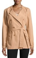 Michael Kors Gathered-neck Belted Trench Coat - Lyst
