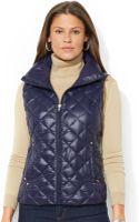 Lauren by Ralph Lauren Quilted Packable Down Puffer Vest - Lyst