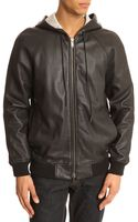 Marc By Marc Jacobs Hoddie Black Leather Jacket - Lyst