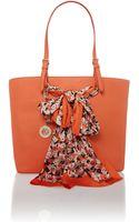 DKNY Orange Large Scarf Tote Bag - Lyst